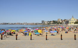 Summer day in the beach of Estoril Stock Photos