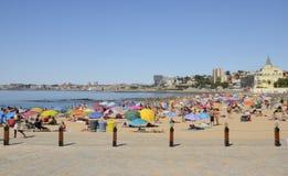 Summer day in the beach of Estoril Stock Photos