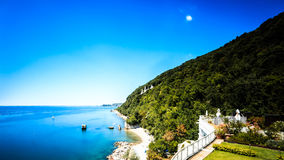 Summer day at the beach in the gulf of Trieste Stock Images