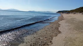 Summer day beach - Okhotsk sea stock photos