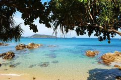 Summer day on the beautiful beach of Thailand Royalty Free Stock Image