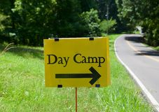 Summer Day Camp Sign Stock Photography