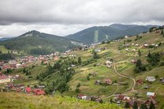 Summer day in Carpathian mountains Stock Photos