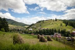 Summer day in Carpathian mountains Royalty Free Stock Photo
