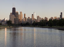Summer day in Chicago Royalty Free Stock Photo