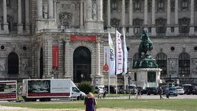 Summer day in City Vienna stock video