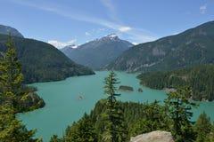Summer day on Diablo Lake, Washington State Royalty Free Stock Photo