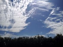 Summer day with a drift of clouds Royalty Free Stock Photo