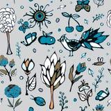 Summer day elements set. stock . cartoon seamless pattern Stock Image