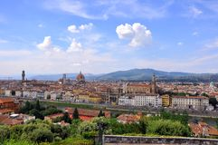 Summer day in Florence city, Italy  Stock Image