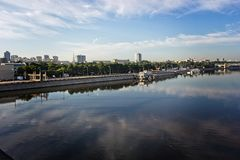 Embankments of the city of Moscow. Royalty Free Stock Photography