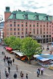 Summer day at Hötorget Stock Image