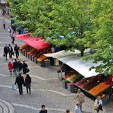 Summer day at Hötorget Stock Photography