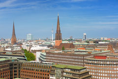 Summer day in Hamburg city Stock Photo