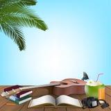 Summer Day, Holiday vacation On the beach beachfront balcony. Vector illustration vector illustration