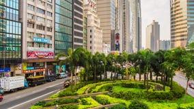 Summer day hong kong traffic street bridge panorama 4k time lapse china. China summer day hong kong traffic street bridge panorama 4k time lapse stock video