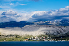 Summer day on the island of Pag, Croatia, Europe Royalty Free Stock Photography