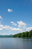 Summer Day on the Lake. Beautiful Lake on a Clear Summer Day royalty free stock photo