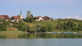 Summer day at lake Pfaeffikon. stock images