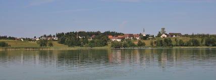 Summer day at lake Pfaffikon. stock photography