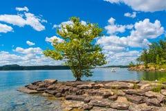 Summer day on lake. Stock Image