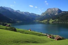 Summer day at lake Wagital, Swiss Alps Royalty Free Stock Image