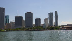 Summer day miami city downtown tourist boat ride view 4k florida usa stock video footage