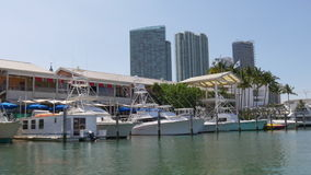 Summer day miami downtown bayside boat ride 4k florida usa stock video footage