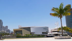 Summer day miami downtown science museum panorama 4k florida usa. Usa summer day miami downtown science museum panorama 4k florida stock video footage