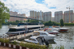 Summer day on Moskva river Royalty Free Stock Photography