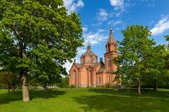 Saint Nicholas church. Summer day near Saint Nicholas Church in Vaasa, Finland royalty free stock photo