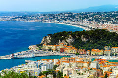 Summer day in Nice, France, Cote d'Azur. Royalty Free Stock Photos