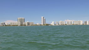 Summer day north miami boat ride 4k florida usa stock video footage
