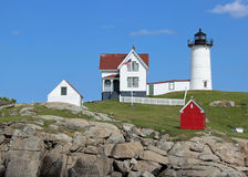 Summer Day at the Nubble Lighthouse Royalty Free Stock Photography