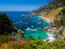 Summer Day By the Ocean. It was a bright hot day at Big Sur, California Stock Photos
