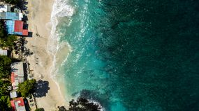 Summer Day over Ocean Beautiful Beach royalty free stock images