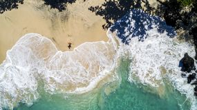 Summer Day over Ocean Beautiful Beach stock image