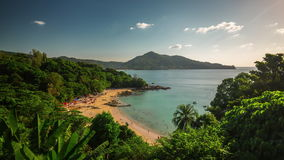 Summer day patong laem sing beach panorama 4k time lapse thailand stock video footage
