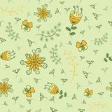 Summer day Pattern. Vector illustration of Summer day in the form of a seamless pattern. Perfect design for posters, cards, textile, web pages. Beautiful hand Stock Images