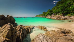 Summer day phuket island famous beach panorama 4k time lapse thailand stock video footage