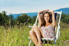 Summer day relaxing Royalty Free Stock Image
