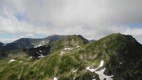 Top view over the Fagaras Mountains - Romania stock video