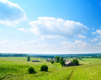 Summer day in russian village Stock Photography