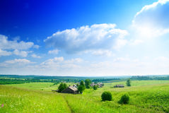 Summer day in russian village Stock Image