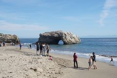 Summer day in Santa Cruz stock image