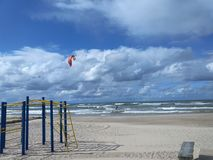 Summer day on the shore of the Baltic Sea in Ventspils Stock Images