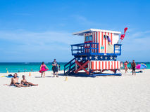 Summer day at South Beach in Miami Stock Images
