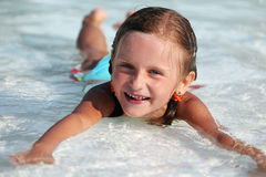 Summer day at the swimming pool. Royalty Free Stock Photos