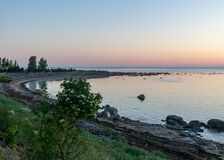 Free Summer Day With Traditional Saaremaa Coast, Short Green Grass, Dune Sand, Juniper, Rocks And Pebbles, Undva Cape, Tagamoisa Stock Photos - 189080923