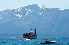 Summer Days at Lake Tahoe California. People enjoying Summer at Lake Tahoe stock photography
